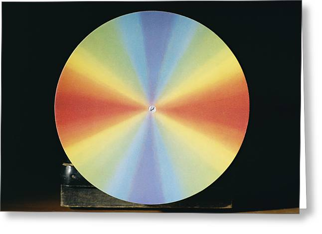 Experiment Greeting Cards - Newtons Colour Disc Greeting Card by Andrew Lambert Photography