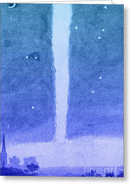 Low Country Watercolor Greeting Cards - Newtons Comet, 1680 Greeting Card by Science Source