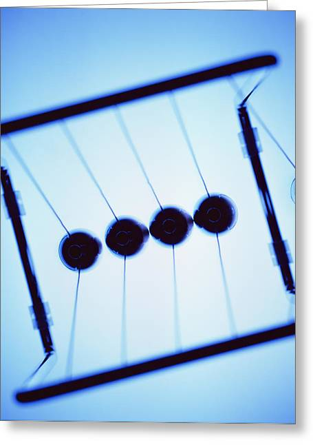 Newton's Cradle Greeting Card by Kevin Curtis