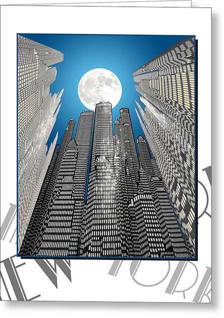 Newyorknewyork Greeting Card by Barry Hayton