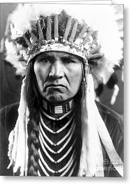 Qed Photographs Greeting Cards - Nez Perce Native American Greeting Card by Granger