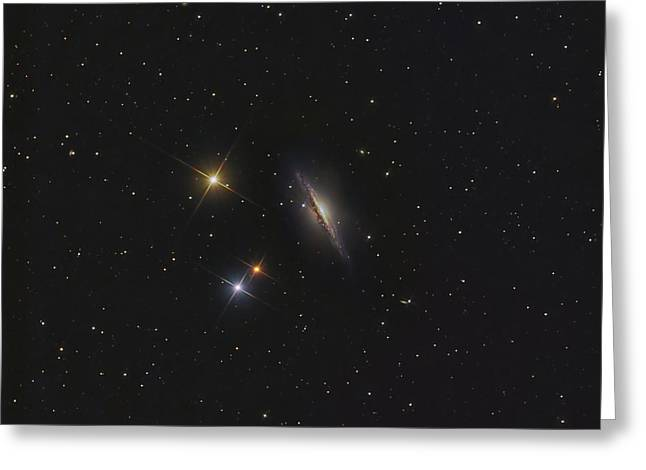 Twinkle Greeting Cards - Ngc 1055, An Edge-on Spiral Galaxy Greeting Card by Don Goldman
