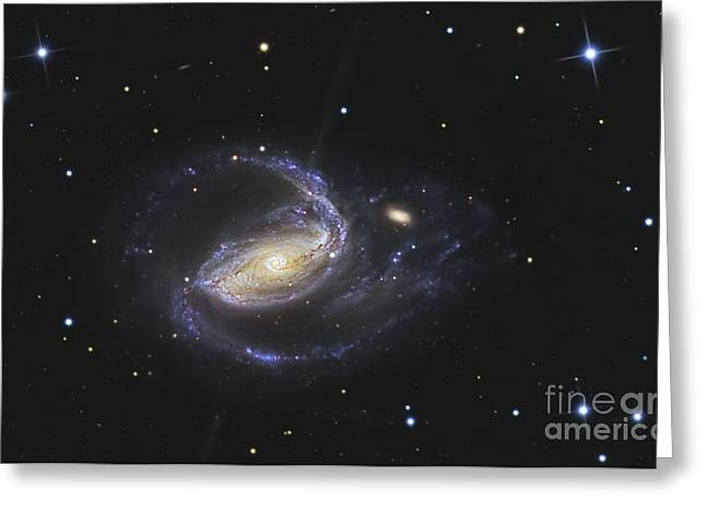 Jet Star Greeting Cards - Ngc 1097 Is A Barred Spiral Galaxy Greeting Card by R Jay GaBany