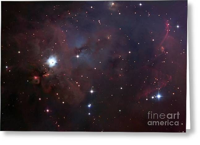 Space Dust Greeting Cards - Ngc 1999 Is A Dust Filled Bright Nebula Greeting Card by Robert Gendler