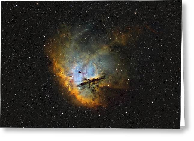 Ngc 281, The Pacman Nebula Greeting Card by Rolf Geissinger