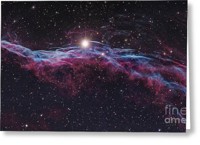 Witches Broom Greeting Cards - Ngc 6960, Veil Supernova Remnant Greeting Card by Robert Gendler