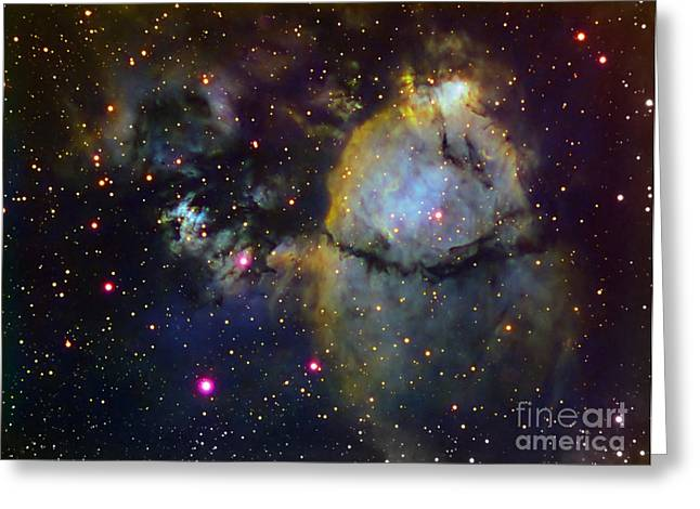 Heart Nebula Greeting Cards - Ngc 896 Part Of The Heart Nebula Greeting Card by Filipe Alves