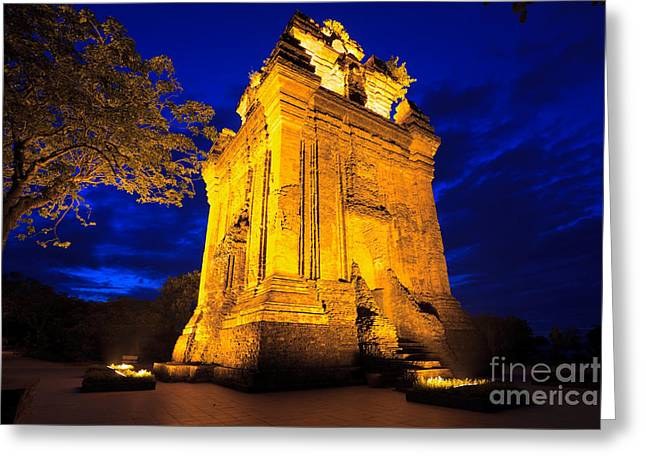 Hoa Greeting Cards - Nhan tower.  Greeting Card by MotHaiBaPhoto Prints