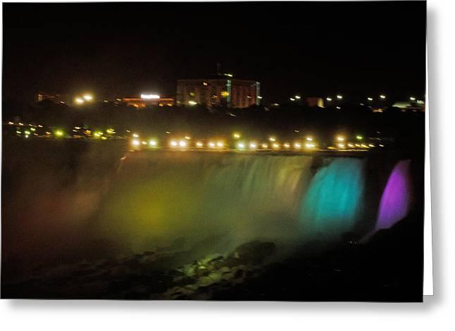 Niagara Fall Colors Greeting Card by Cheryl Cencich