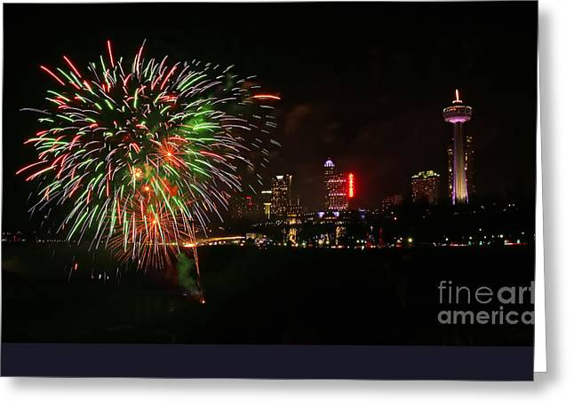 4th July Greeting Cards - Niagara Falls 4th of July Greeting Card by Charline Xia