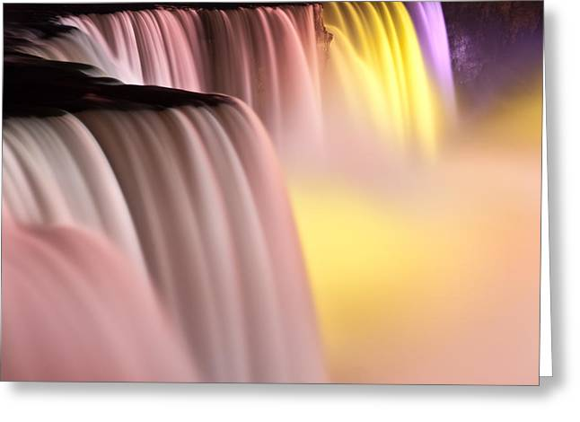 Niagara Falls Greeting Cards - Niagara Falls Illuminations Number 2 Greeting Card by Steve Gadomski