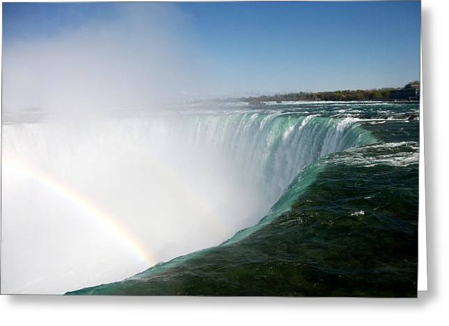 Niagara Falls Rainbow Please Do Not Jump For Gold   Greeting Card by Danielle  Parent