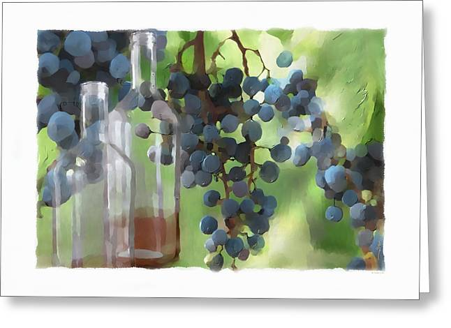 Fruit And Wine Digital Greeting Cards - Niagara Peninsula Wine Country Greeting Card by Bob Salo