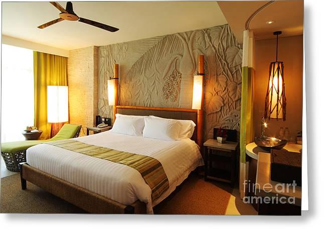 nice hotel-room Greeting Card by ATIKETTA SANGASAENG