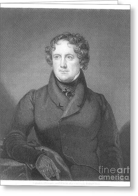 Best Sellers -  - Nicholas Greeting Cards - Nicholas Biddle (1786-1844) Greeting Card by Granger