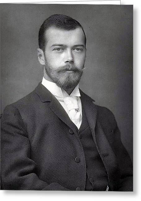 Nicholas Greeting Cards - Nicholas II from Russia Greeting Card by Stefan Kuhn