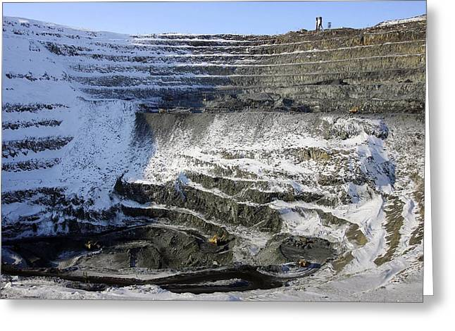 Mine Pit Greeting Cards - Nickel Quarry Greeting Card by Ria Novosti