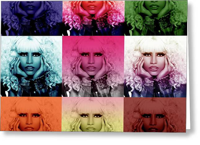 Hops Greeting Cards - Nicki Minaj by GBS Greeting Card by Anibal Diaz