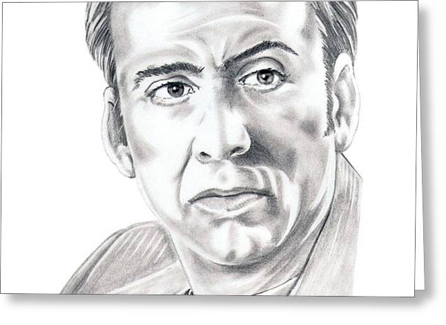 Nicolas Cage Greeting Card by Murphy Elliott