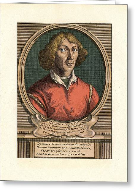 Captions Greeting Cards - Nicolaus Copernicus, Polish Astronomer Greeting Card by Detlev Van Ravenswaay