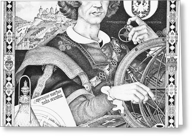 Nicolaus Copernicus, Polish Astronomer Greeting Card by Omikron