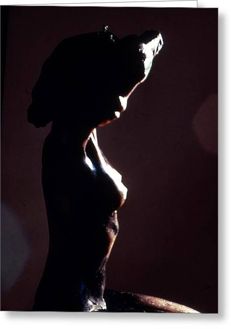 Nude Sculptures Greeting Cards - Nicole au Lever du Soleil  Greeting Card by Robert Buono