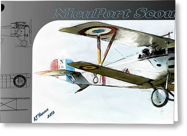 Wwi Greeting Cards - Nieuport Scout 17 Greeting Card by Arne Hansen