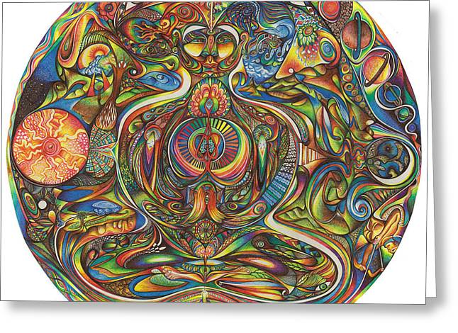 New Mind Drawings Greeting Cards - nIeyeIn Greeting Card by Jonathan