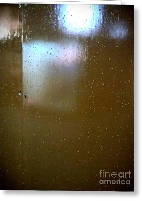 Abstract Rain Greeting Cards - Night After Rain Greeting Card by Eena Bo