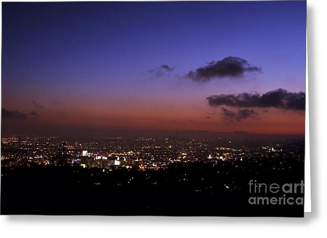 Bruster Greeting Cards - Night At Griffeth Observatory Greeting Card by Clayton Bruster