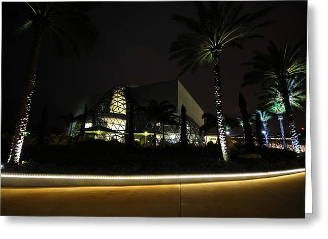 Dali Museum Greeting Cards - Night at the Dali Greeting Card by David Lee Thompson