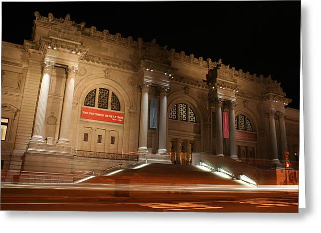 New York The Metropolitan Museum Of Art Greeting Cards - Night at the Museum  Greeting Card by Matthew Breslow