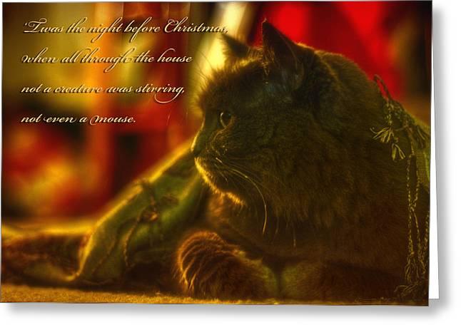 Night Before Christmas... Greeting Card by Joann Vitali