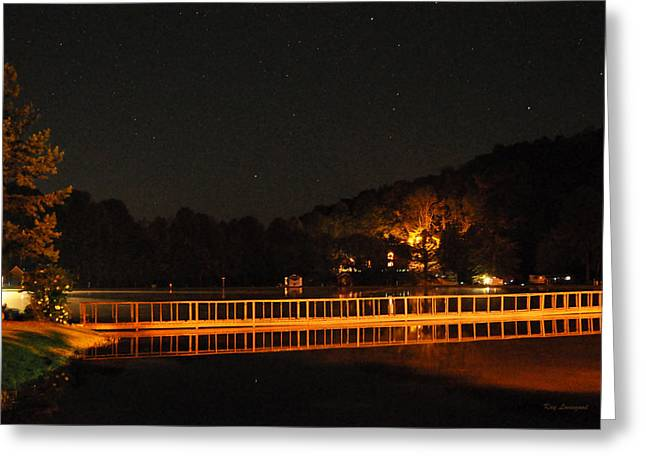 Kay Lovingood Greeting Cards - Night Bridge Greeting Card by Kay Lovingood