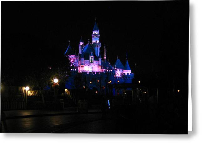 Disney California Adventure Park Greeting Cards - Night Castle Greeting Card by Jon Berry