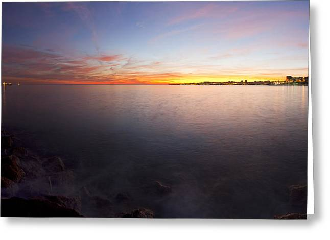 Reflex Greeting Cards - Night colors Greeting Card by Mauricio Reis