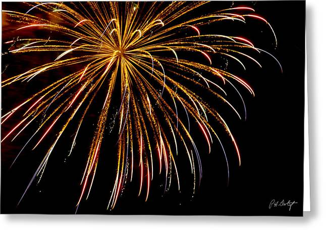 4th July Digital Art Greeting Cards - Night Colors Greeting Card by Phill  Doherty