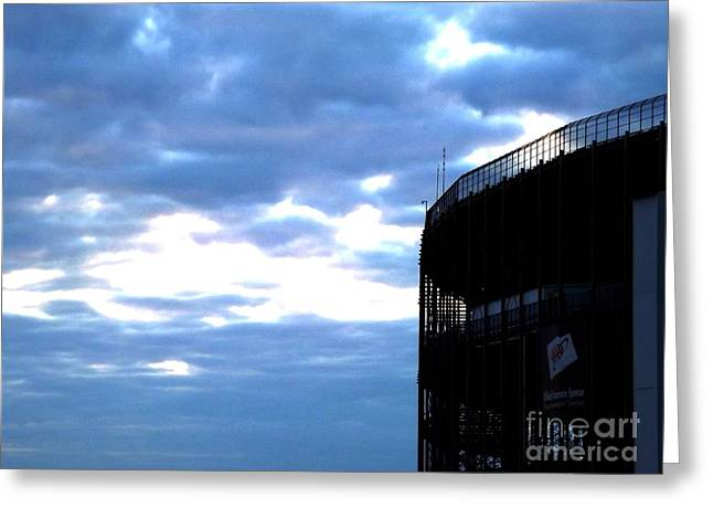 Arcas Greeting Cards - Night Falls At The Track Greeting Card by Chad Thompson