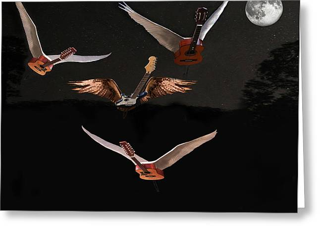 Night Angel Greeting Cards - Night Fever Greeting Card by Eric Kempson