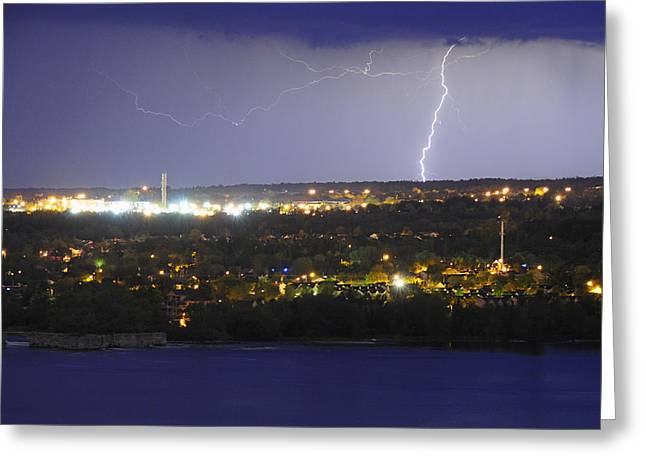 Gatineau Greeting Cards - Night Light Greeting Card by Tony Beck