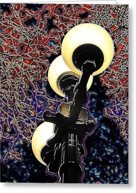 Night Lamp Digital Art Greeting Cards - Night Lights 3 Greeting Card by Tim Allen