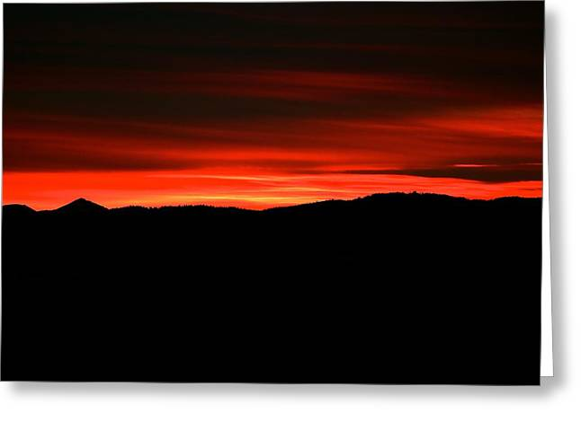 Sunset Posters Greeting Cards - Night on Fire Greeting Card by Kevin Bone