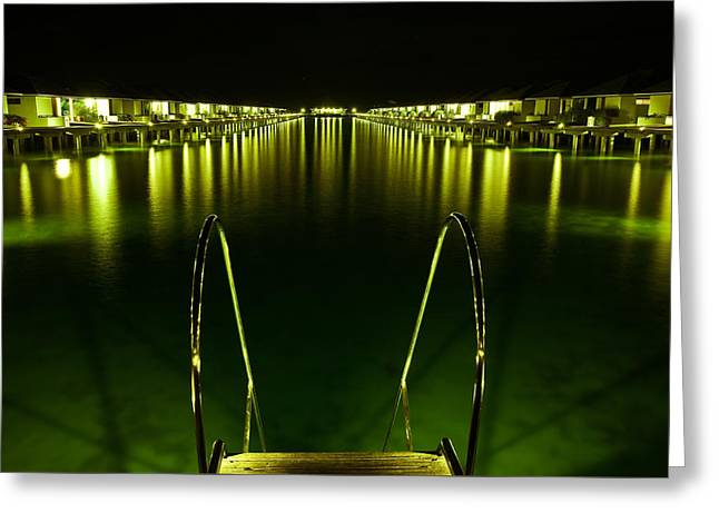 Night. One Day In Paradise. Maldives Greeting Card by Jenny Rainbow