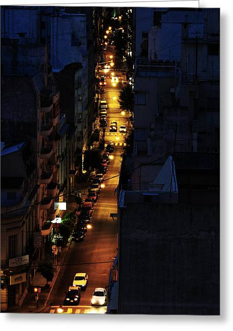 Noche Greeting Cards - Night Greeting Card by Osvaldo Hamer
