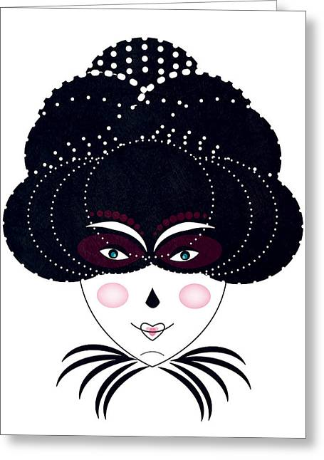 Night Out Greeting Card by Andrea Lantos