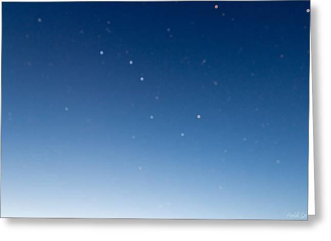 Night Sky Greeting Card by Heidi Smith