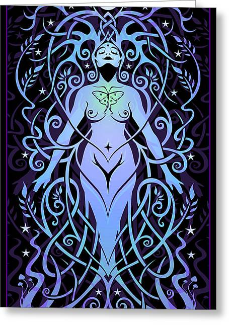 Goddess Greeting Cards - Night Song Greeting Card by Cristina McAllister