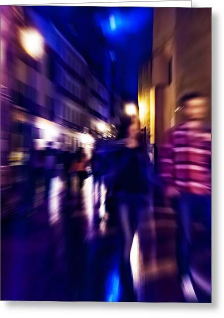 Bold Style Photographs Greeting Cards - Night Walk. TNM Greeting Card by Jenny Rainbow