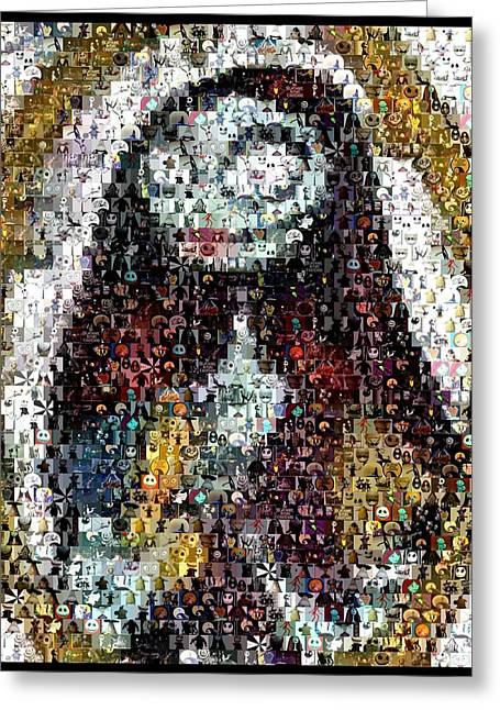 Skelington Greeting Cards - Nightmare Before Christmas Sally Mosaic Greeting Card by Paul Van Scott