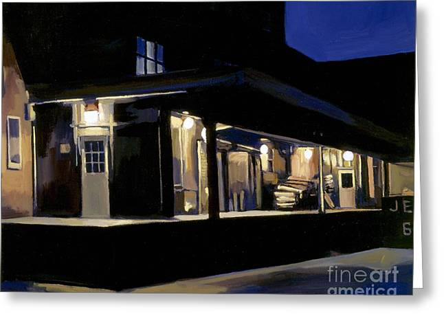 South Boston Greeting Cards Greeting Cards - Nighttime on Southampton Street Greeting Card by Deb Putnam